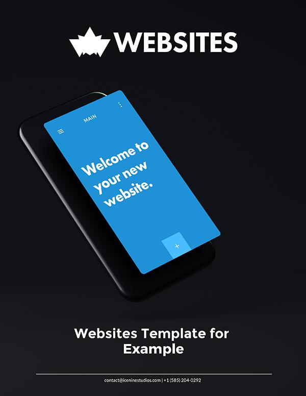 website proposal template design example