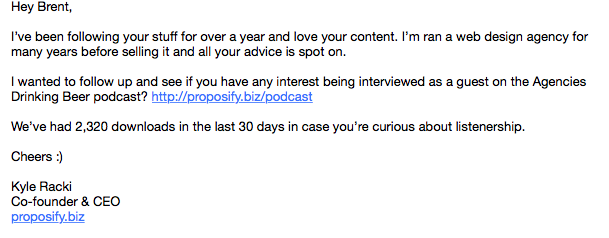 outreach email example