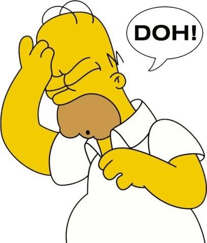 homer saying 'DOH'