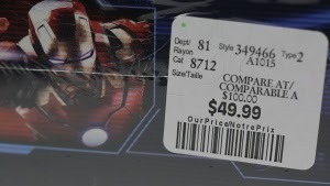 a price tag on a dvd