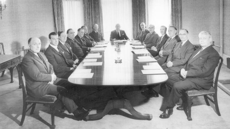 men in a boardroom