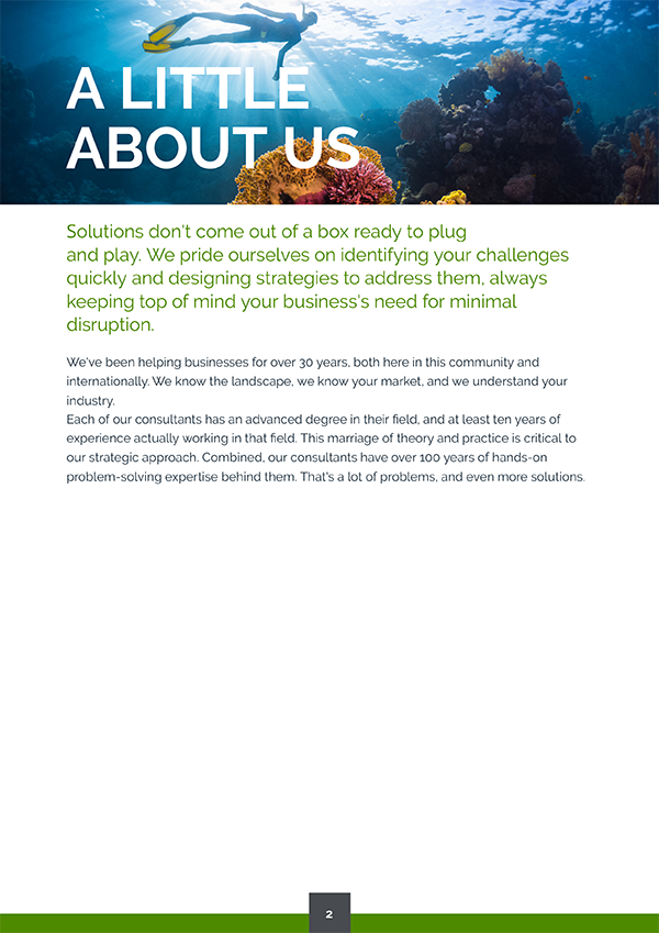 about us proposal page design sample
