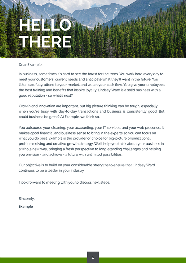 proposal cover letter design example