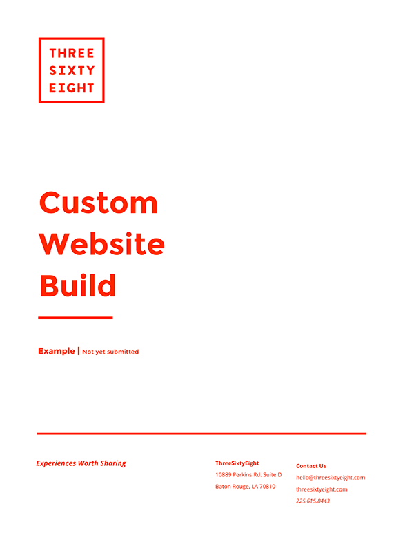 website proposal cover design example