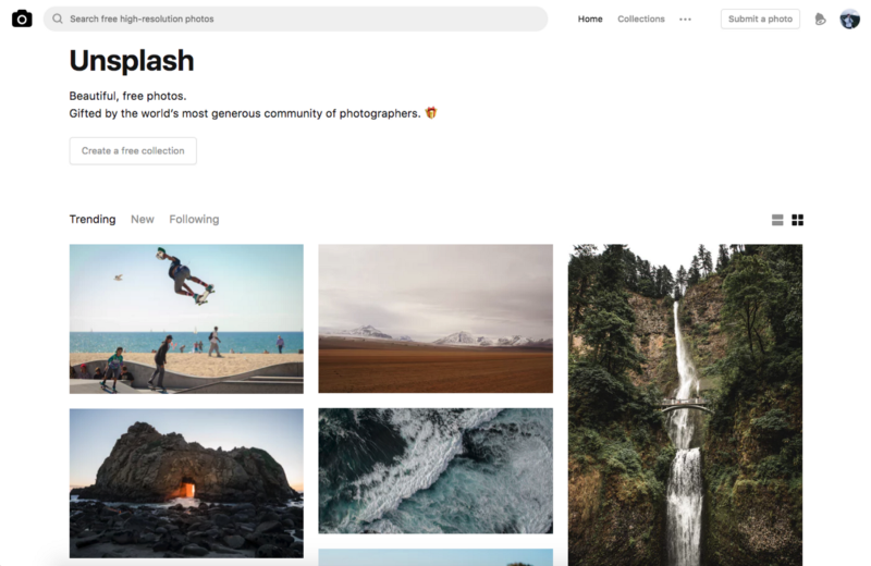 unsplash images in a business proposal