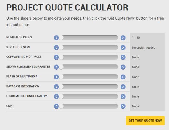 calculation quotes per project
