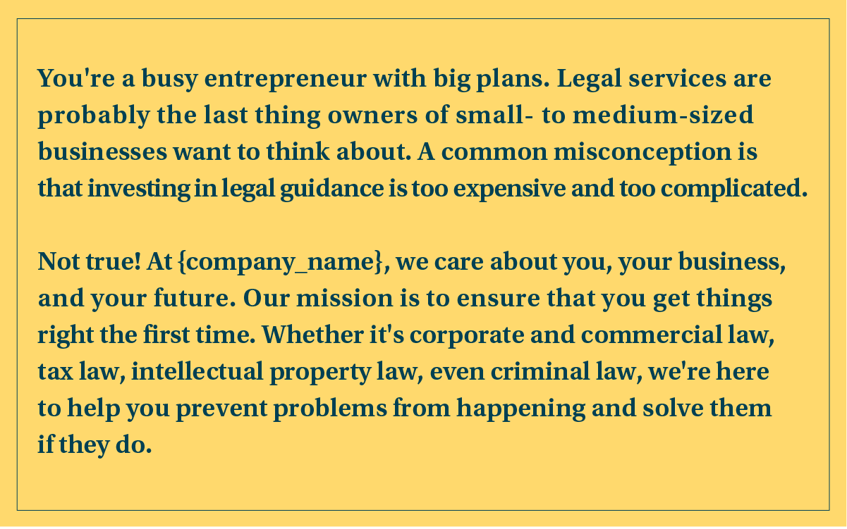 legal services proposal cover letter example