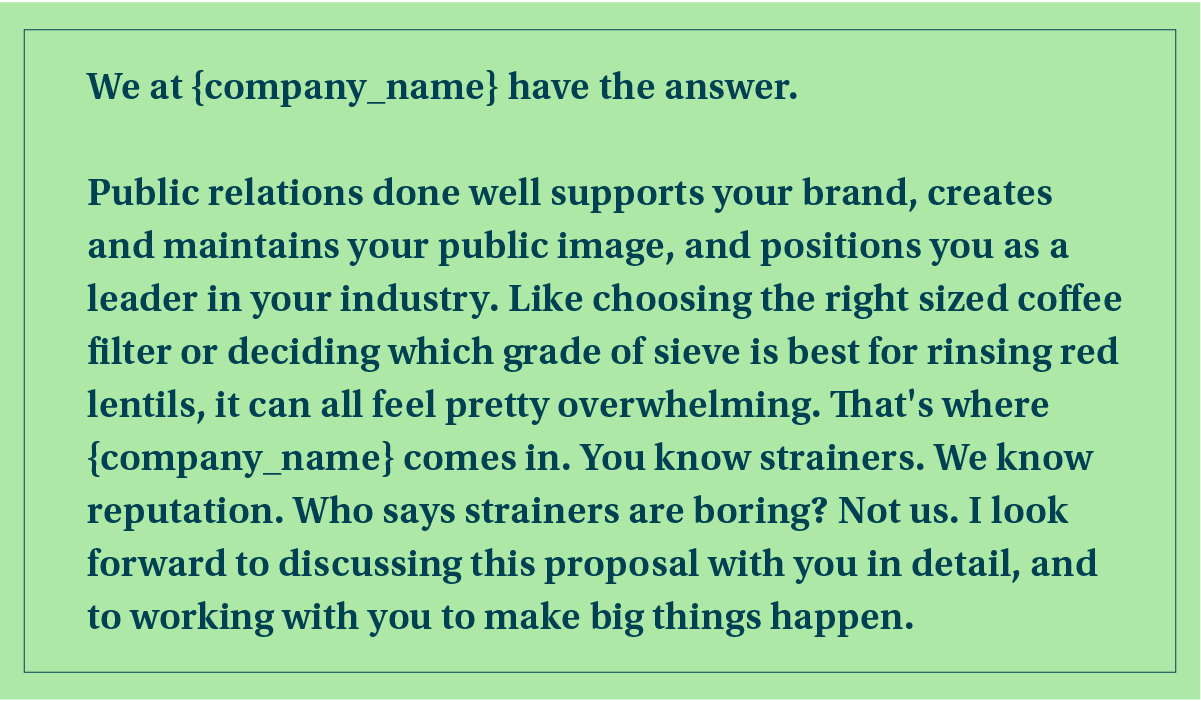 public relations proposal cover letter example