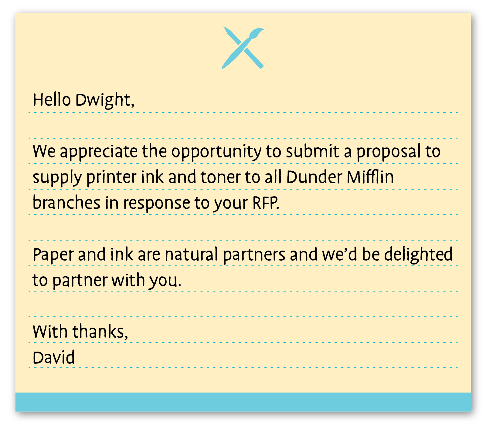 business thank you note example 2