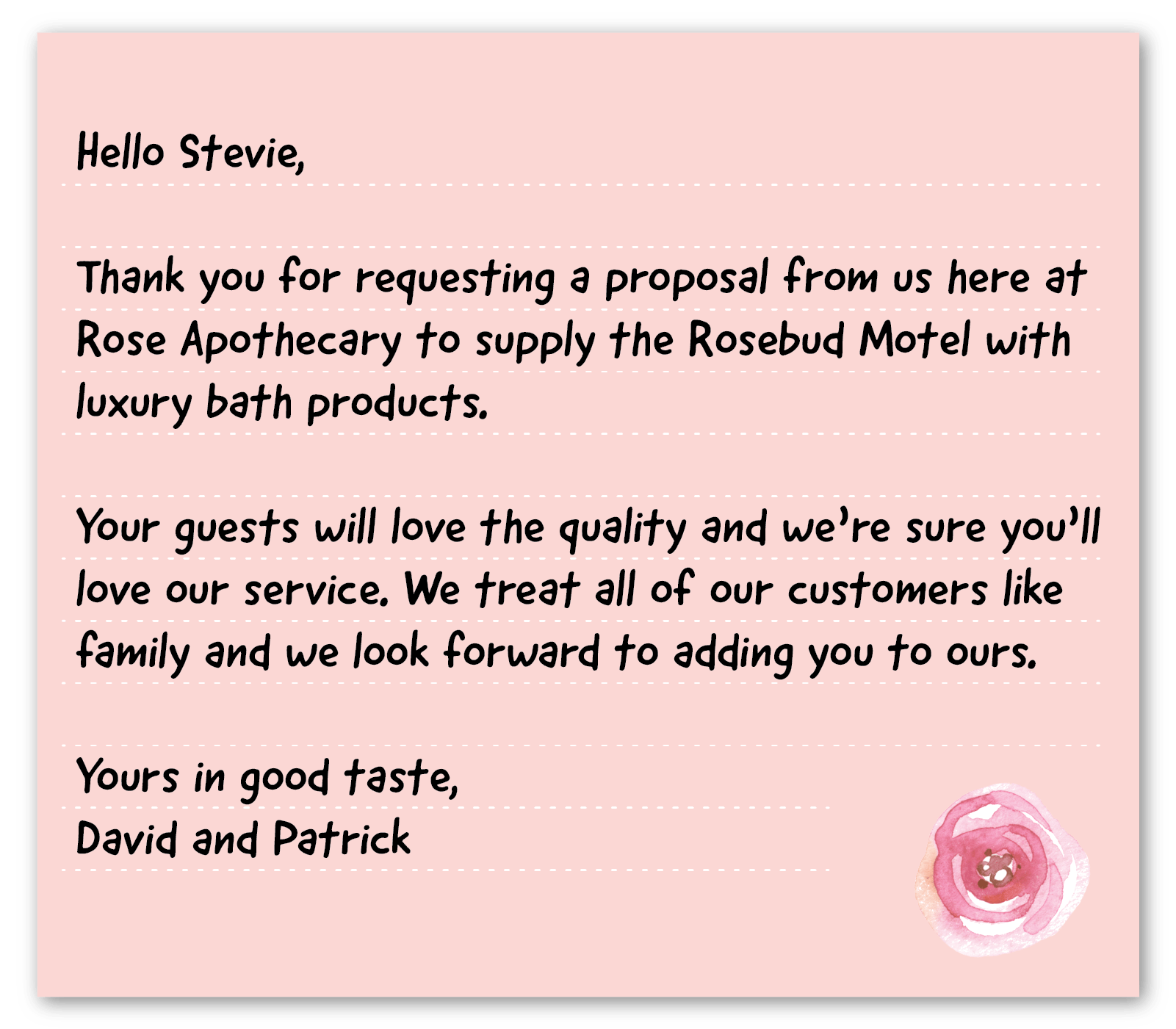 business thank you note example 4