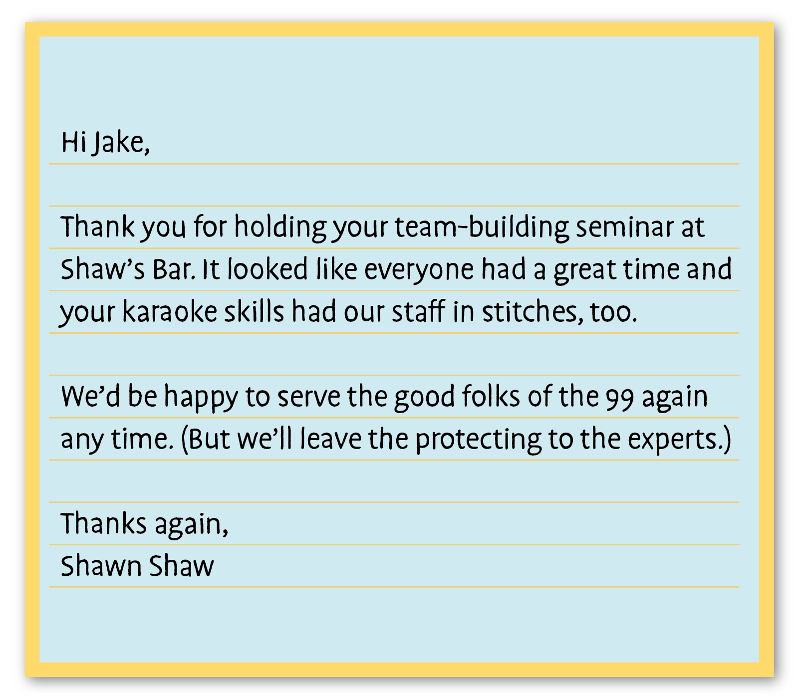 business thank you note example 5