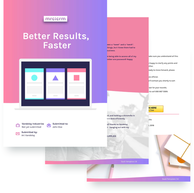 a colourfully modern proposal template