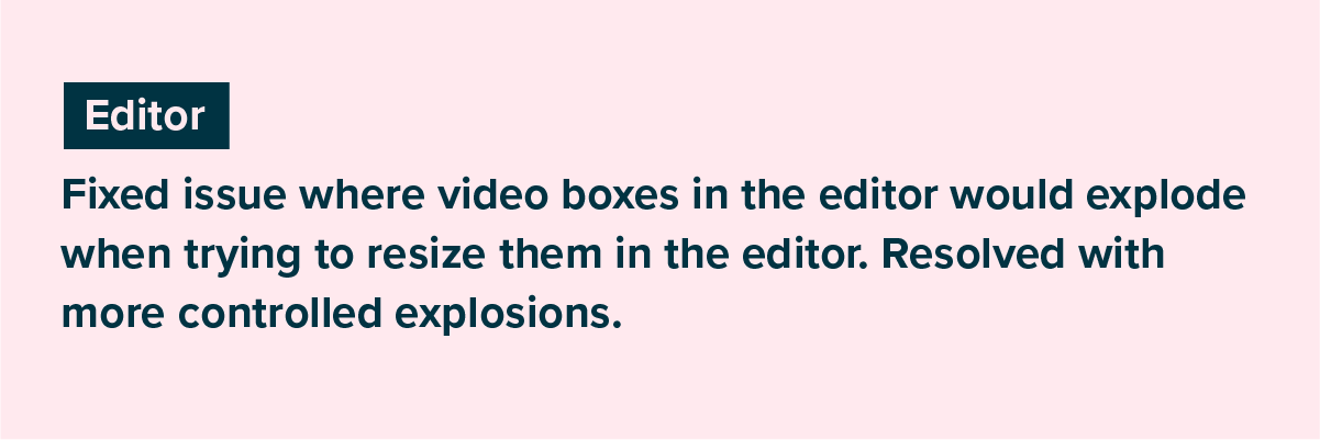 an example of an editor issue notice