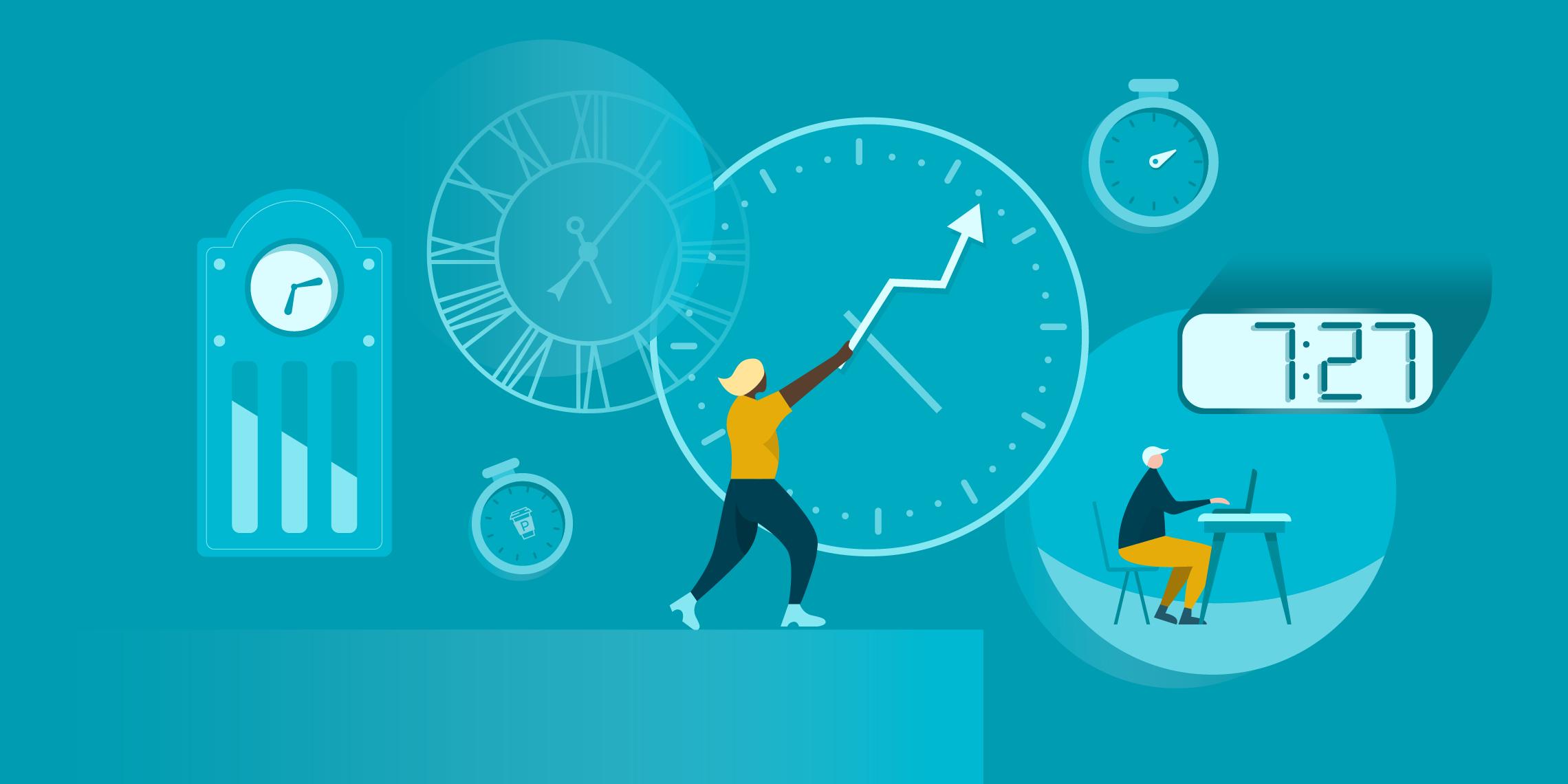 Sales productivity graphic