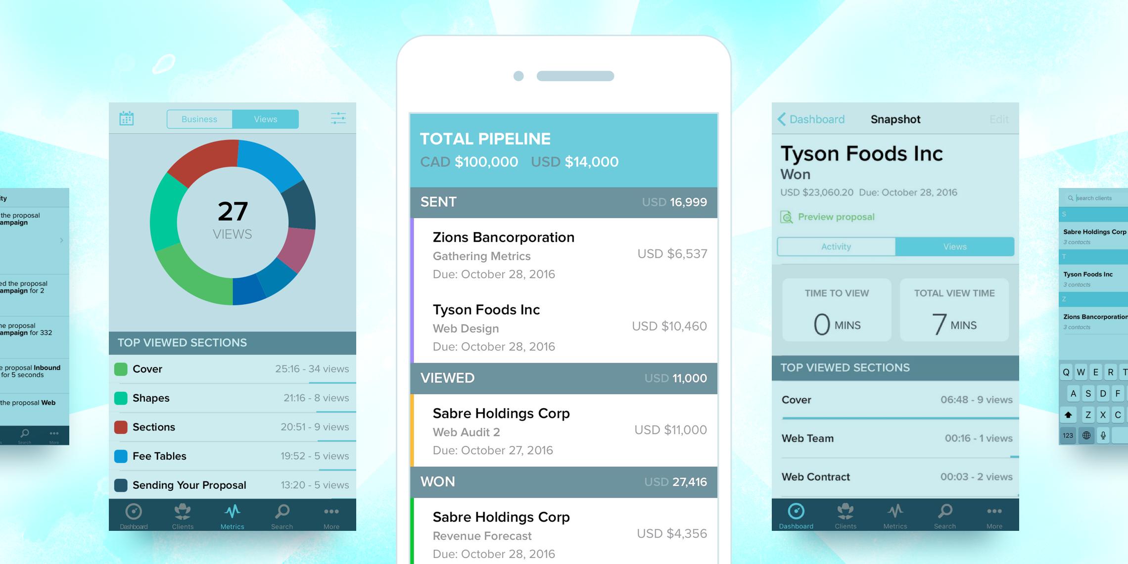 Proposify's mobile app integration launch promotion