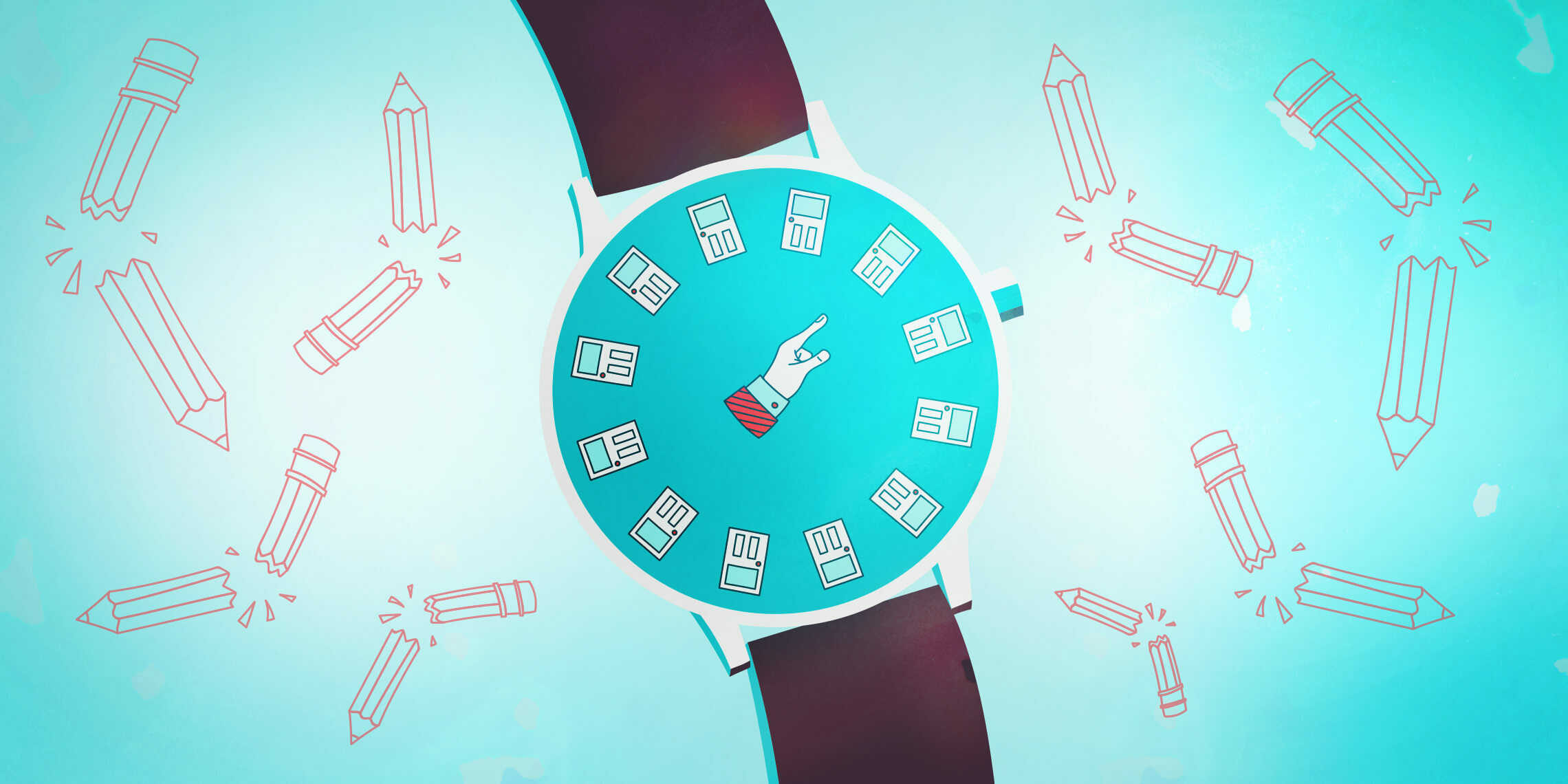 a clock watch ticking down time before firing a client