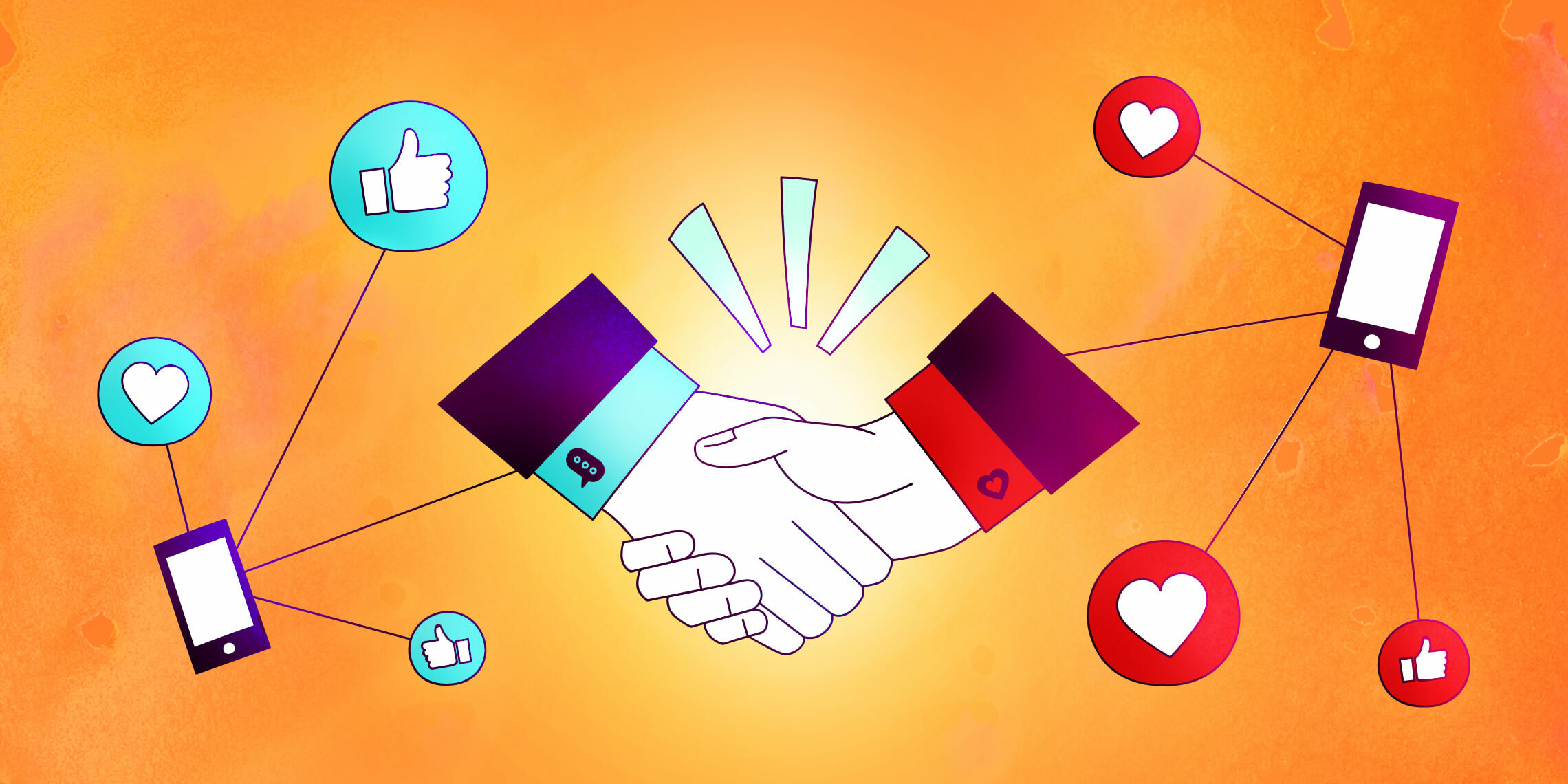 a business agreement made over social media selling
