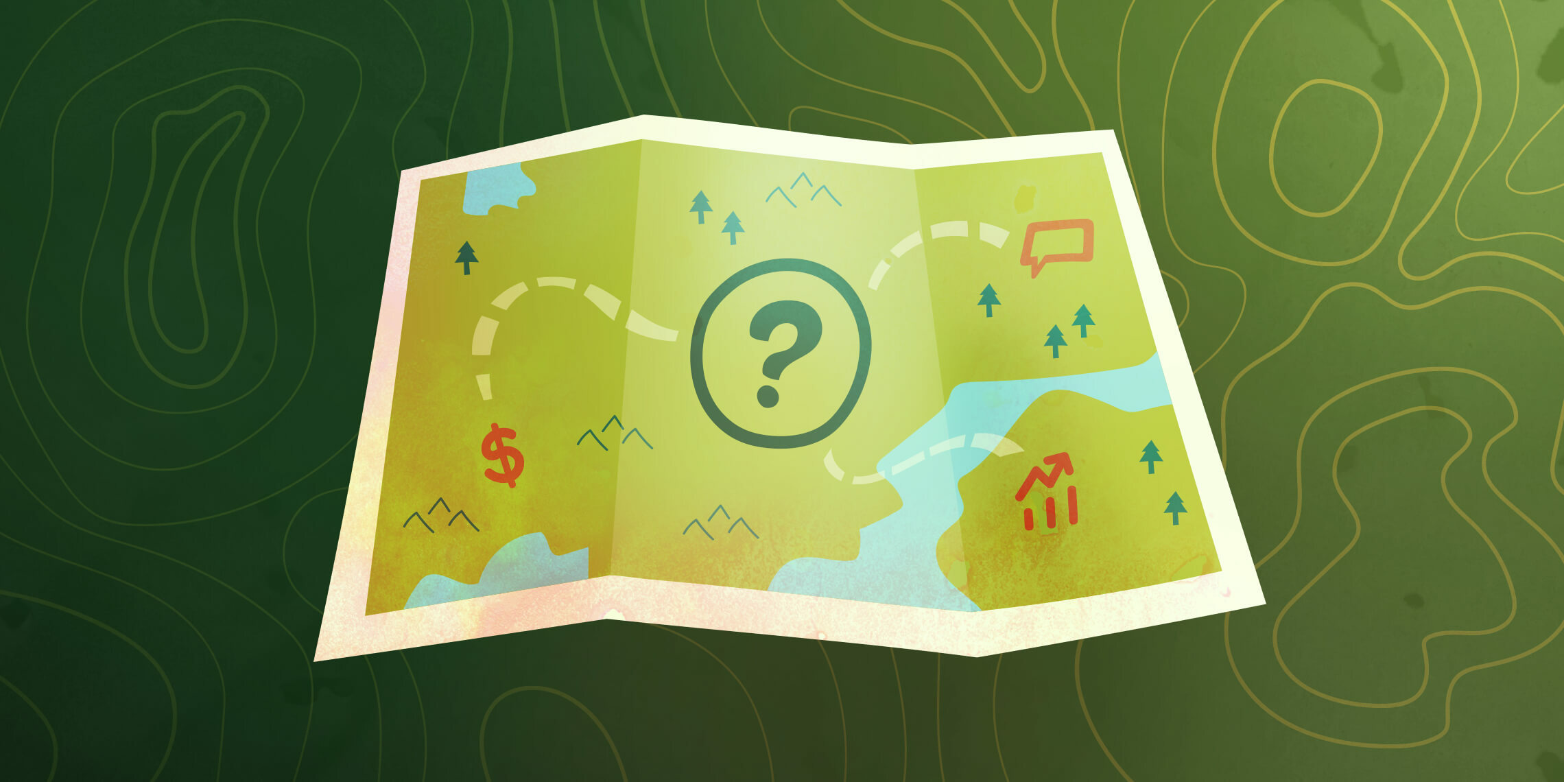 a map that leads to open ended sales questions