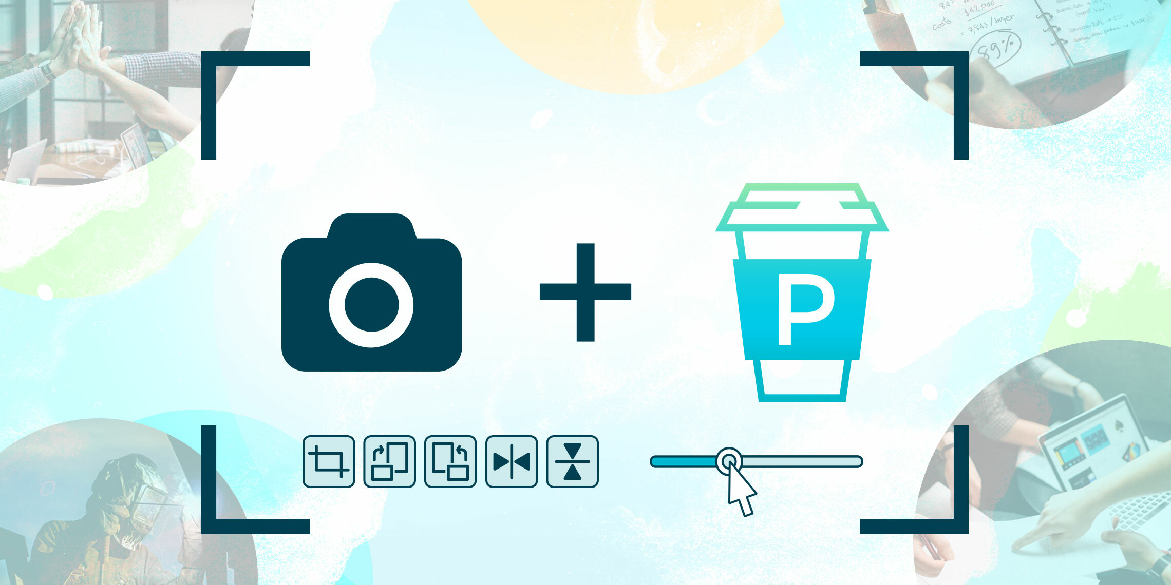 proposify image integration with unsplash photo editor cropping icons