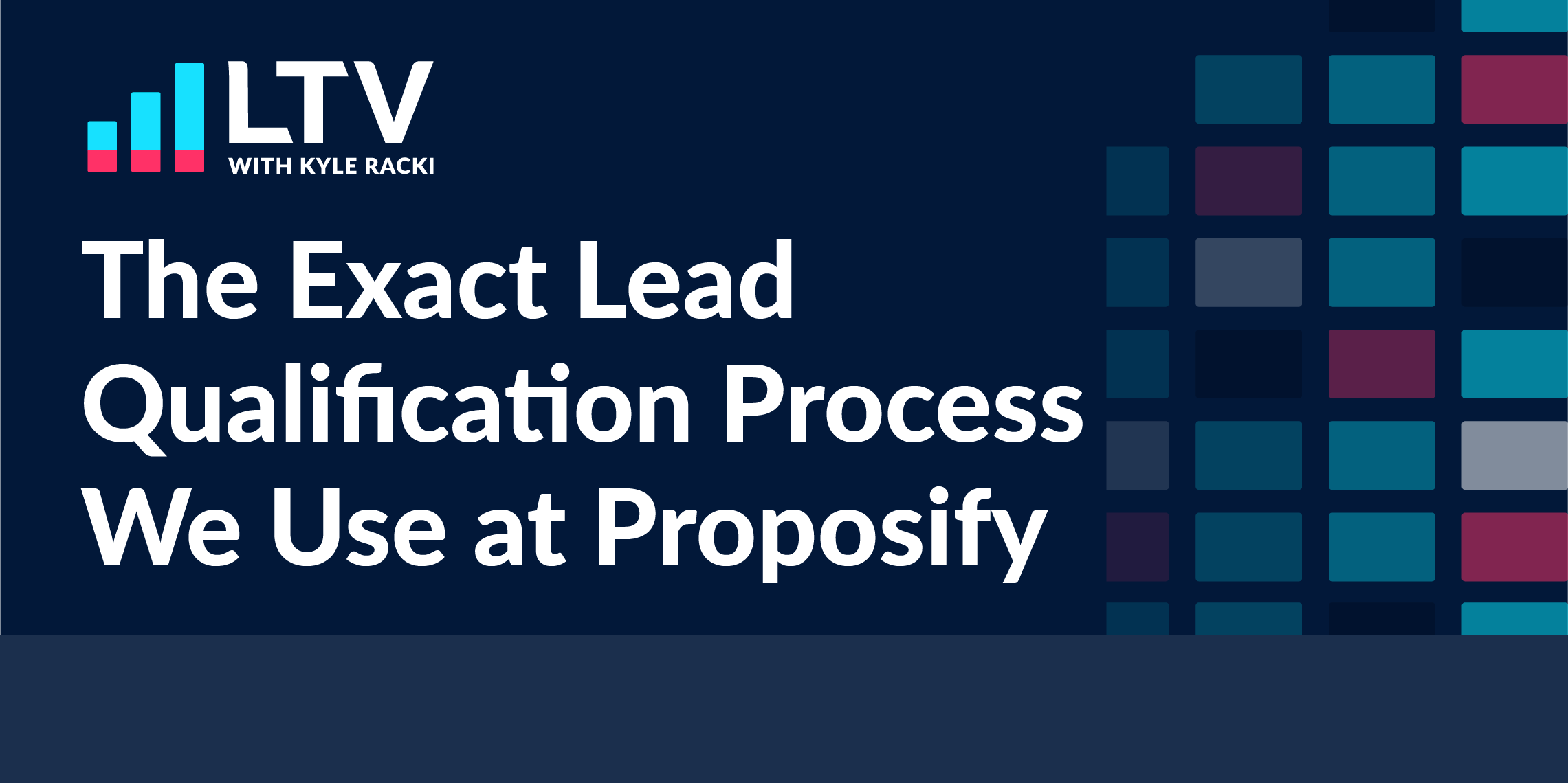 the exact lead qualification process we use at proposify
