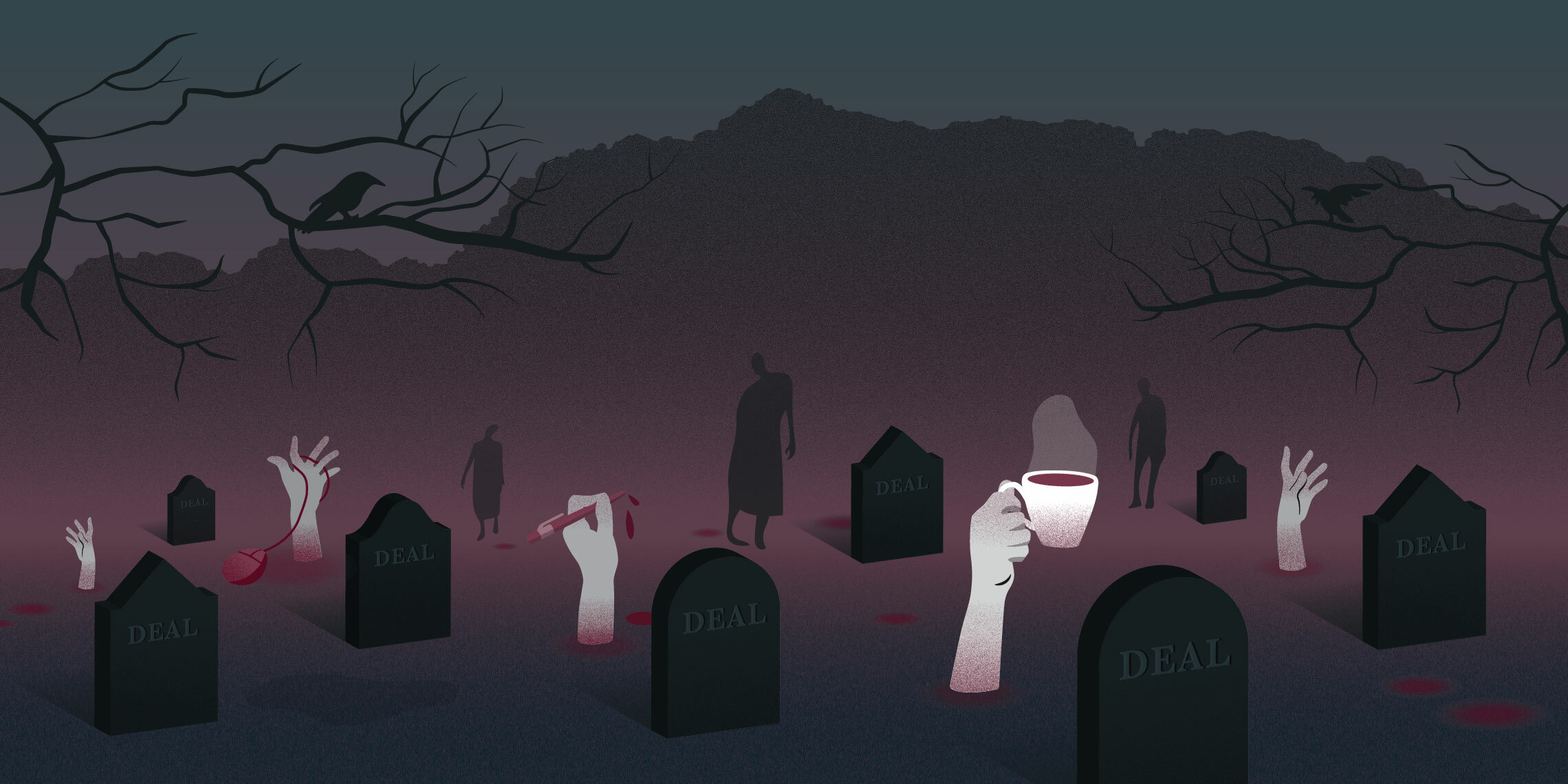 a graveyard of dead deals with bad branding