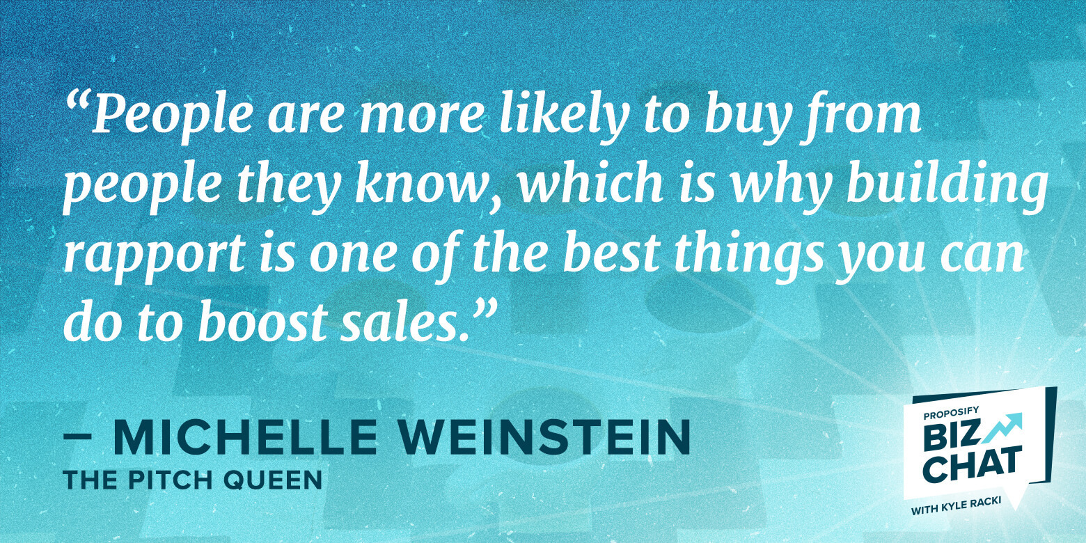 """Biz Chat guest Michael Weinstein """"people are more likely to buy from people this know"""""""