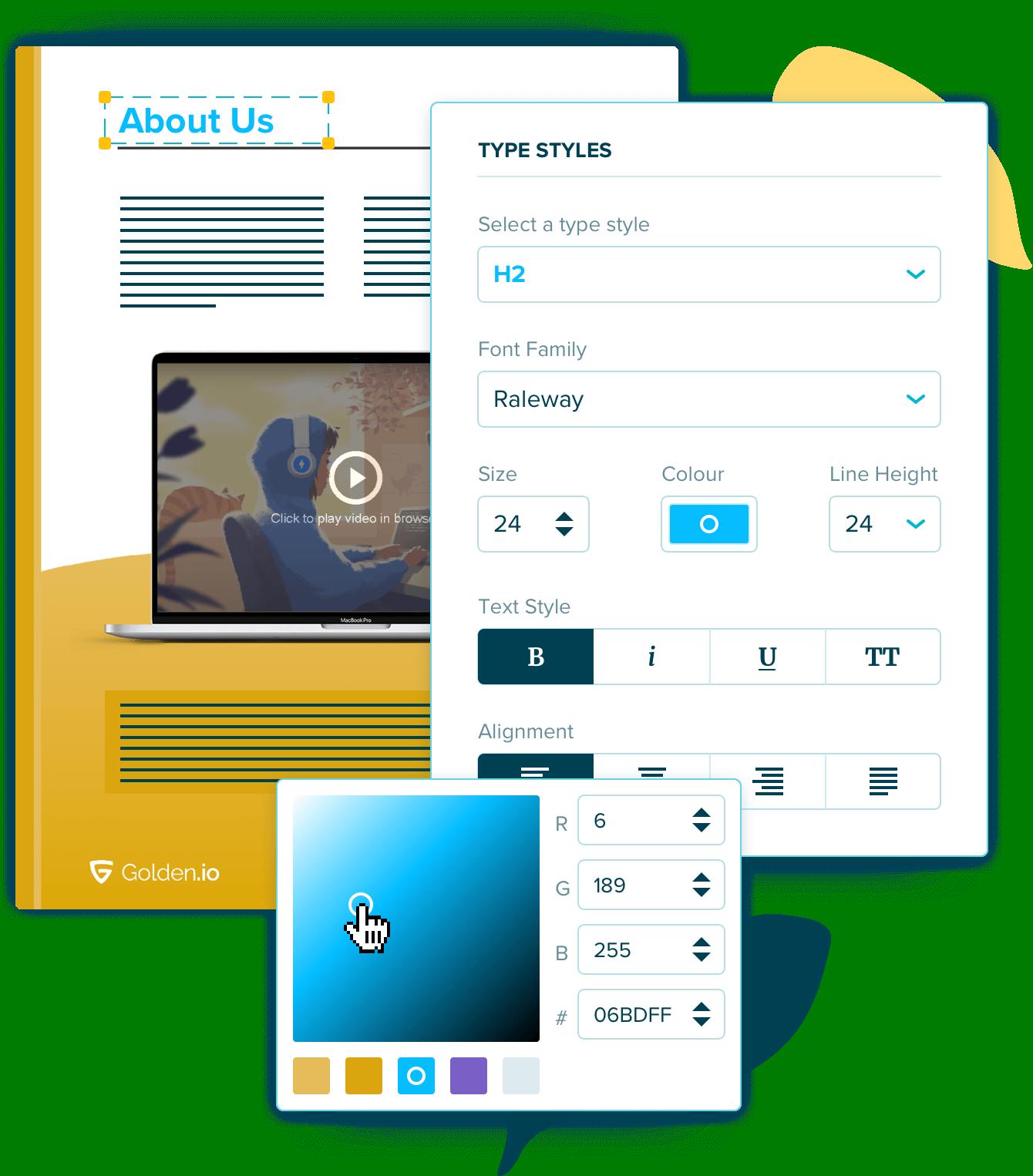 flexible proposal design editor