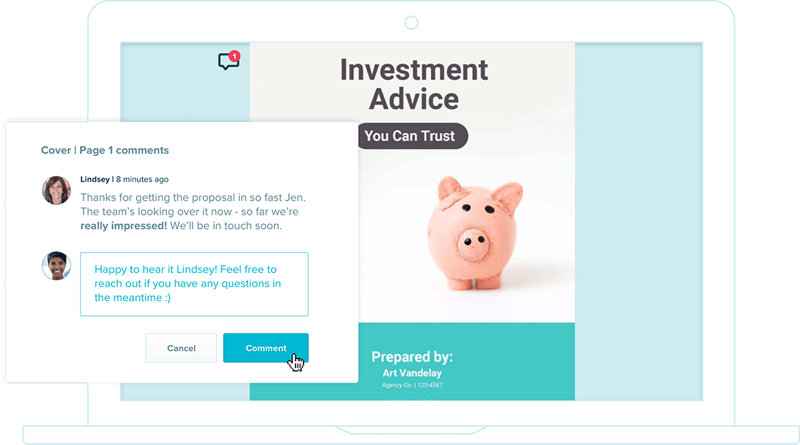 deliver an excellent financial proposal experience