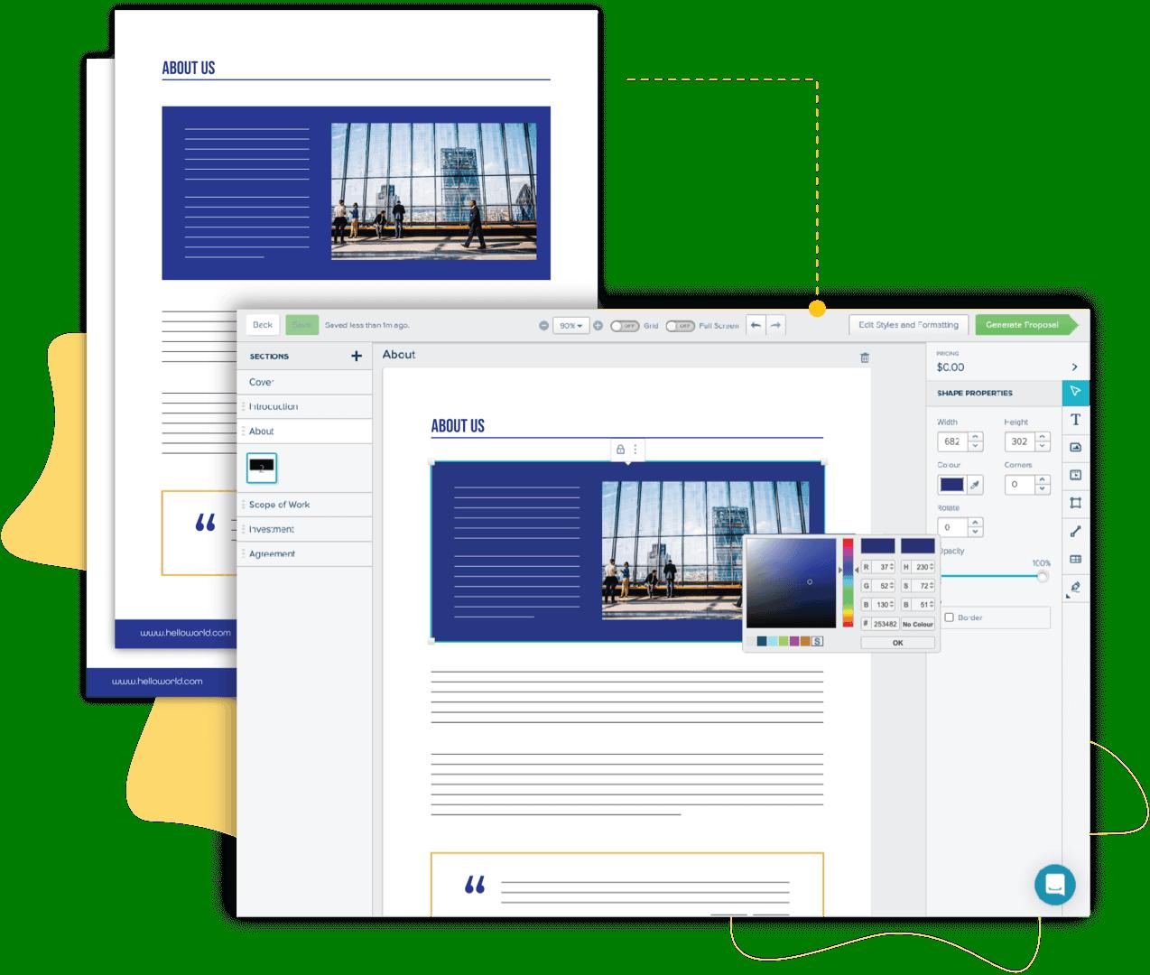 professional services pdf proposal conversion