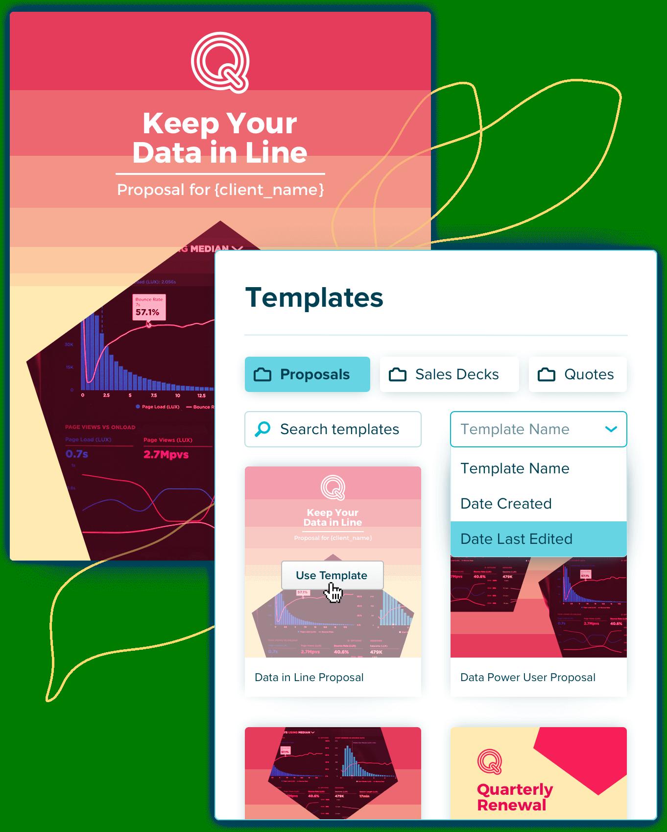 reuse proposal templates