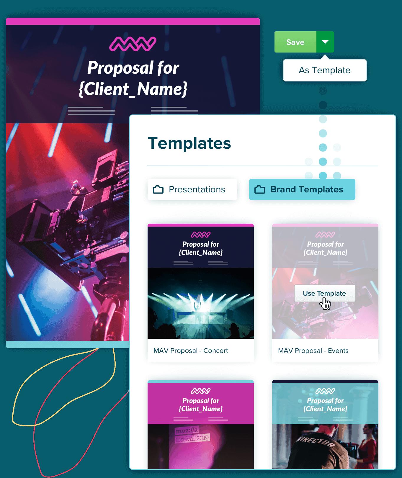 create proposal templates