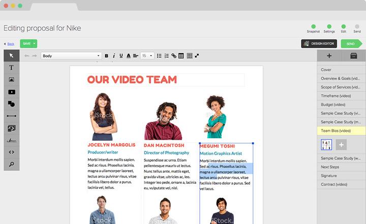 pandadoc vs proposify design team