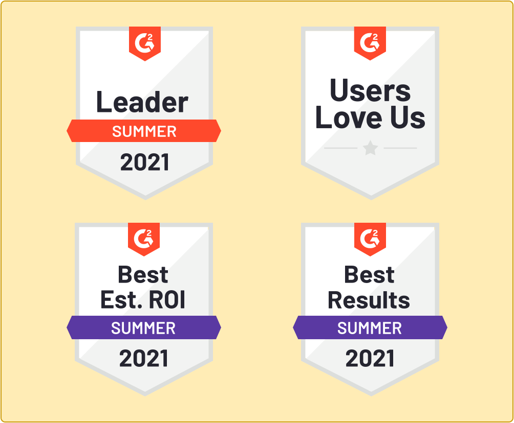 Badges of G2 awards best proposal software awards won by Proposify