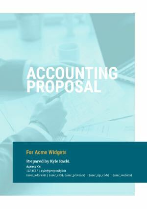 Accounting Proposal Template cover