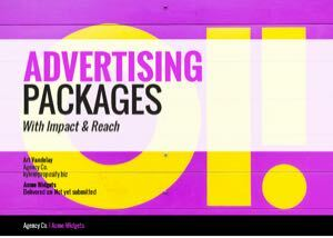 Advertising Proposal Template cover