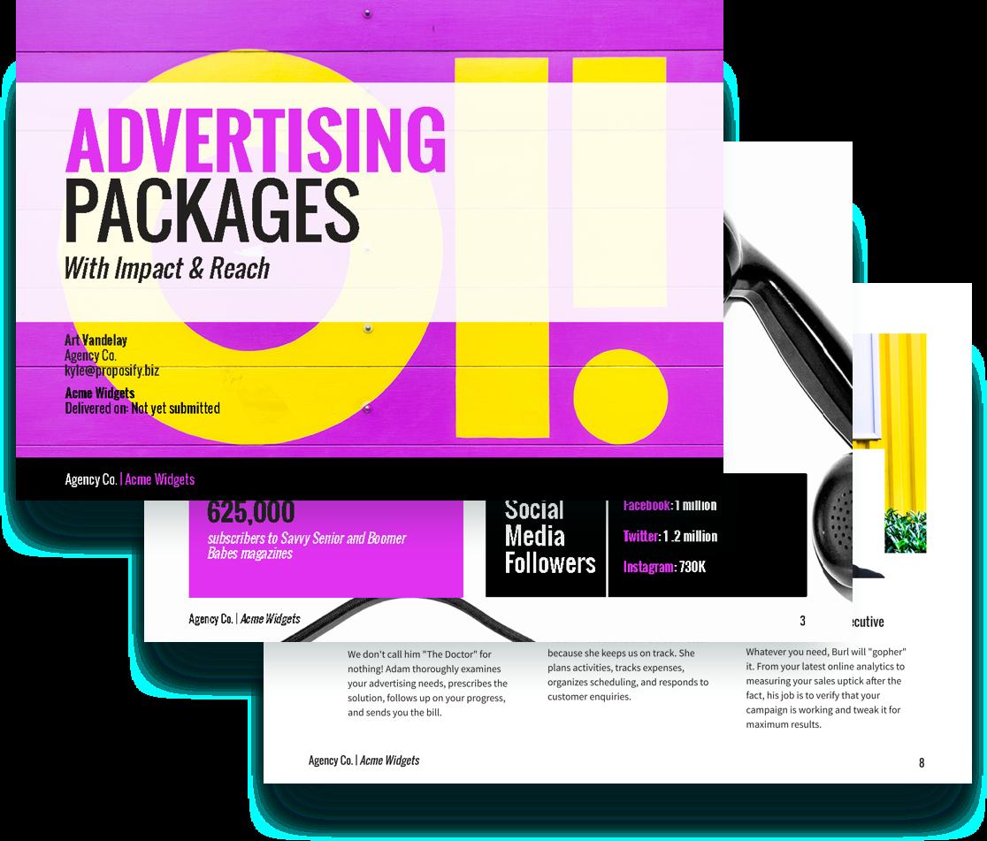 free advertising proposal template