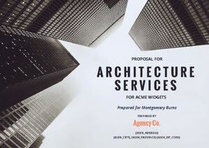 Architecture Proposal Template cover