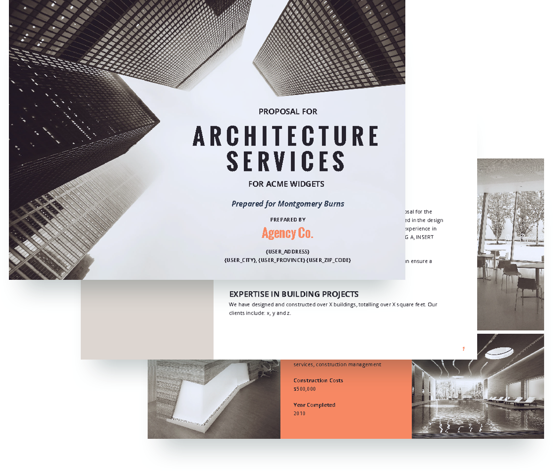 free architecture proposal template