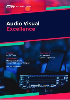 Audio Visual Proposal Template cover