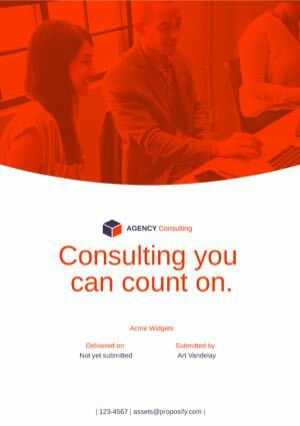 Business Consulting Proposal Template cover