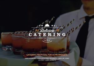 Catering Proposal Template cover