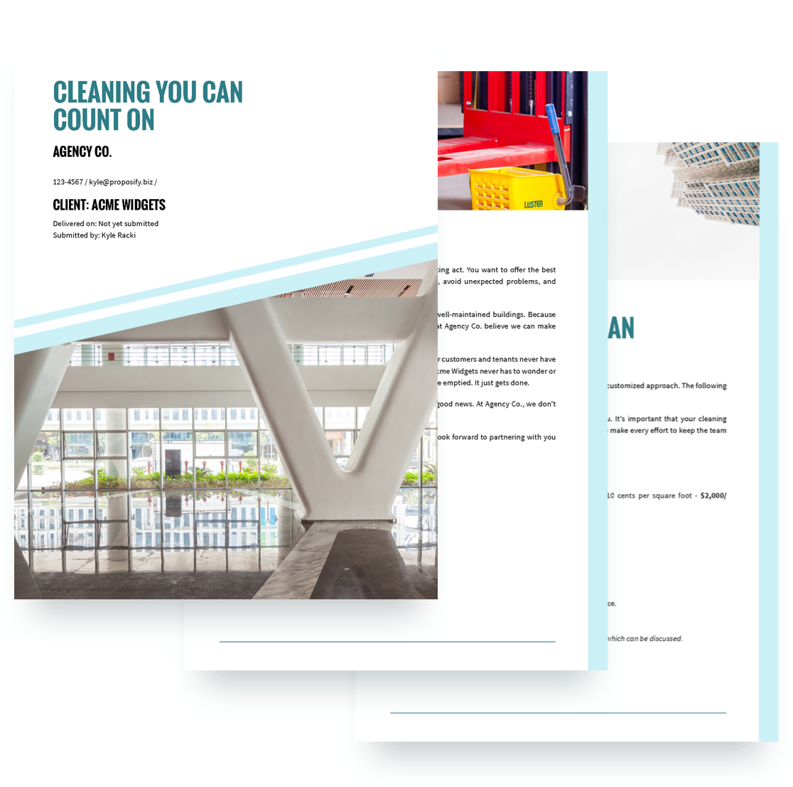free cleaning services proposal template