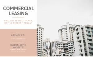 Commercial Lease Proposal Template cover
