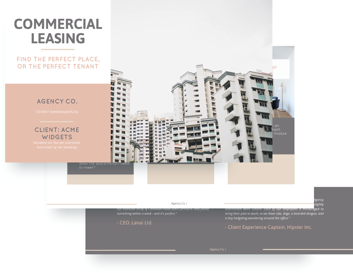 free commercial lease proposal template