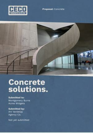 Concrete Proposal Template cover