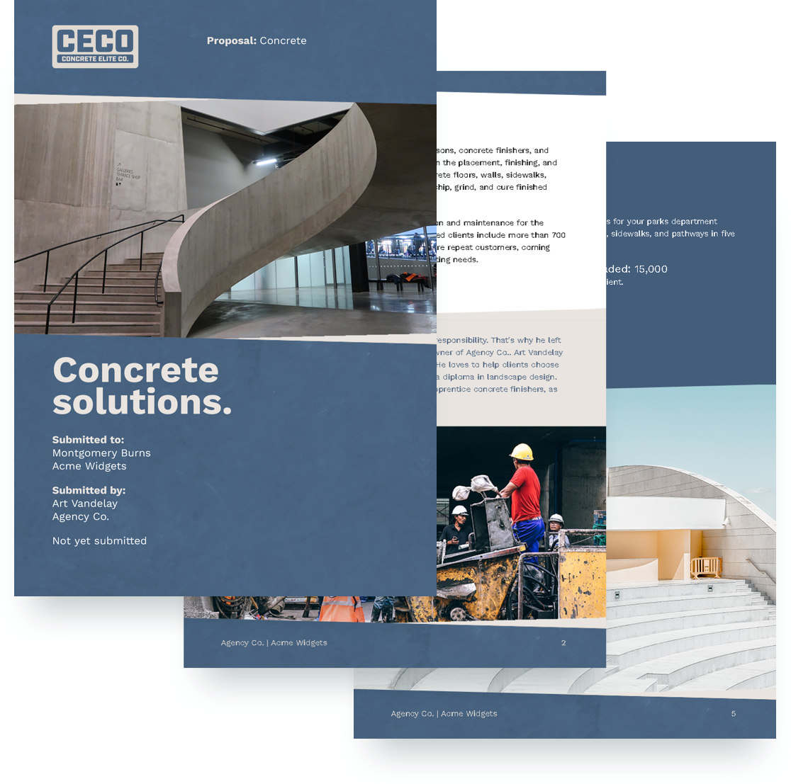free concrete proposal template