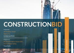 Construction Bid Template cover