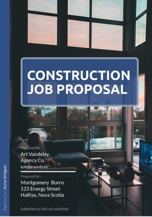 Construction Job Template cover
