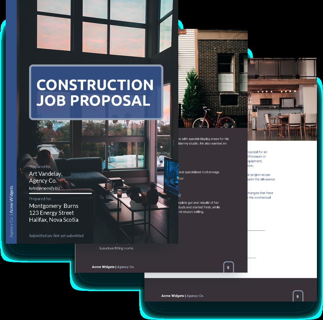 free construction job proposal template