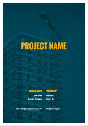 Construction Proposal Template cover